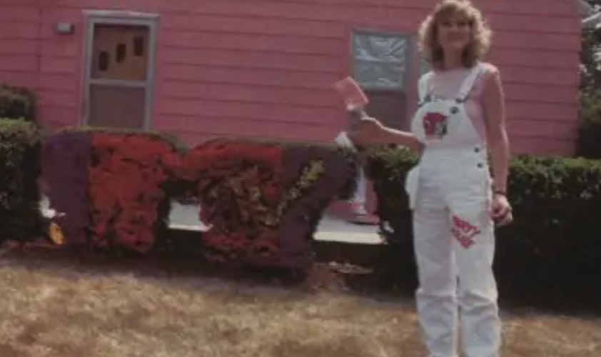 John Cougar Mellencamp's MTV Pink Houses contest included a pink house, pink jeep, and a toxic waste dump.